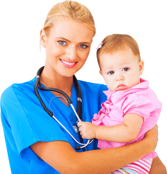caregiver and a child